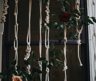 DIY macrame backdrop