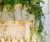 Romantic wedding altar