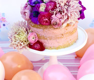 Puppies and posies purple birthday party