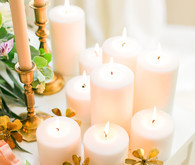 Tablescape with candles