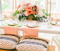 Tropical Galentine's Day brunch