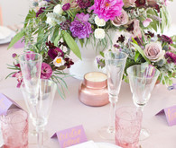 Pink and purple tablescape