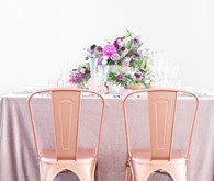 Rose gold chairs