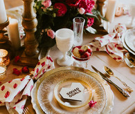 Galentine's Day place setting