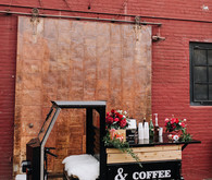 Valentine's Day coffee cart