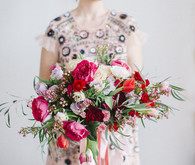 Valentine's Day bridal bouquet