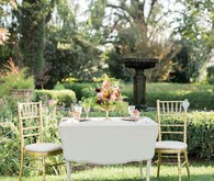 Garden wedding table