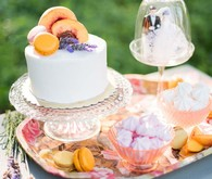 Peach dessert table
