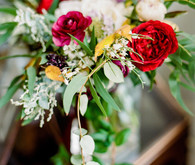 Red wedding flowers