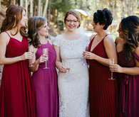 Red bridesmaids dress