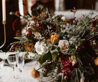 Moody wedding flowers