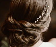 Elegant bridal hairstyle