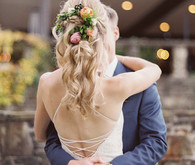 Floral bridal hairstyle
