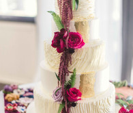 Jewel tone wedding cake