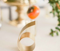 Modern gold table number