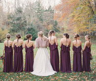 Plum bridesmaid dresses