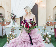 Pink LZ Bridal gown