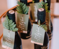 Winter champagne favors