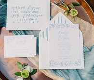 Blue wedding invites