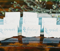 Watercolor escort cards
