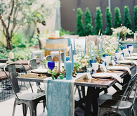 Blue spring tablescape
