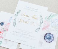 Spring wedding stationery