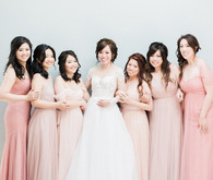 Spring bridal party
