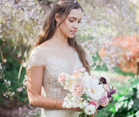 Garden bridal fashion