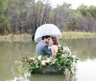 Romantic lakeside elopement