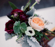 Soft wedding flowers