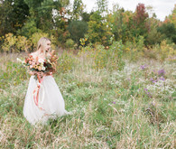 Romantic caramel color wedding inspiration