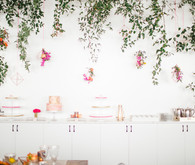 Bright floral baby shower