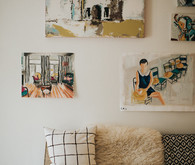Artsy family home tour