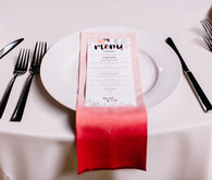 Dip dyed place setting