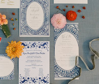 Colorful wedding invites