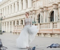 Italy bridal portrait