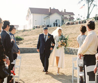 Stylish coastal wedding