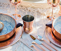 Copper glassware