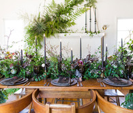 Foliage tablescape