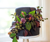 Foliage wedding cake