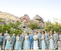 Desert wedding party