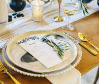 Modern fall place setting