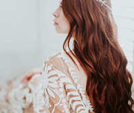 Long bridal hairstyle