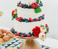 Fruit topped layer cake