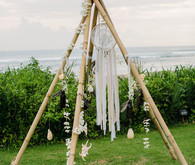 Bohemian wedding deco