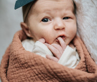 moody modern newborn photos