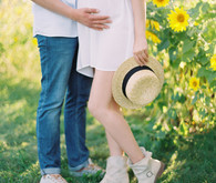 spring maternity photos