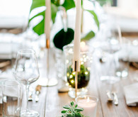 Green and white decor