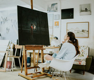 Art studio portrait