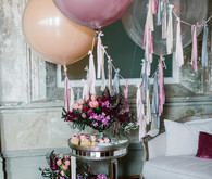 Moody floral spring party ideas